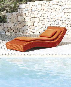 Paola Lenti | Sun beds | Wave | Orange | Outdoor