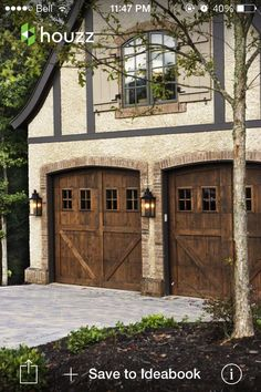 Beautiful wood garage doors