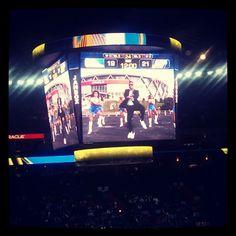 Warriors #GangnamStyle video is even better on the new scoreboard.