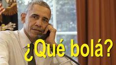 """El presidente estadounidense escribió """"qué bola"""" en un tuit poco después de aterrizar en Cuba. BBC Mundo investigó en las calles de La Habana qué significa aquel coloquialismo."""