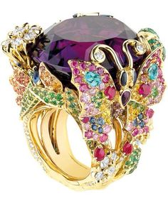This is a great inspiration for my wedding whenever it will be. I would like to wear it at the reception. ---- Jewel Worthy-Dior Ring by Victoire de Castellane - Haute Tramp