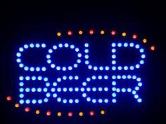 """ADV PRO nled004-b COLD BEER Bar OPEN LED Neon Light Sign 16"""" x 10"""" AdvPro Led http://www.amazon.co.uk/dp/B00DBZNE04/ref=cm_sw_r_pi_dp_2FLwvb0VRYHNP"""