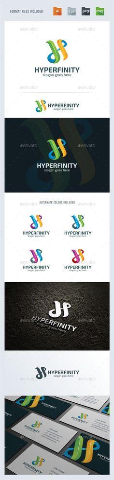H Letter - Infinity Logo Template Vector EPS, AI Illustrator #logotype Download here: http://graphicriver.net/item/h-letter-infinity-logo-template/15318666?ref=ksioks
