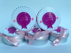 Personalised tins for birthday party decoration