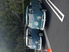 Pair of Blue VW trucks