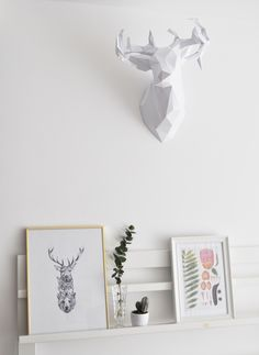 imakin diy tutorial geometric deer head