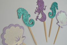 Glitter Under the Sea/Mermaid Cupcake Toppers