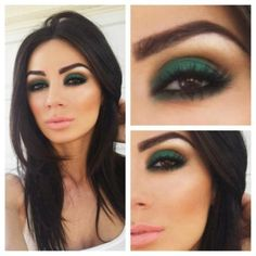 Love doing the smoky green eye look, with brown in the crease to add more definition and highlight underneath the brow bone. So easy to do.