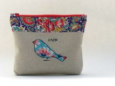 Zippered Purse Pouch Vintage Feedsack Fabric by GingerthreadStudio, $18.00