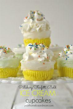 Bold Ice Cream Cupcakes