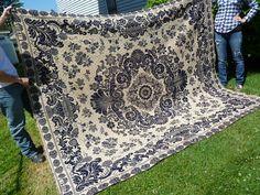 Antique Jacquard Double Woven Coverlet Dark by FairchildsInc