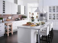 Trendy IKEA kitchen design for 2012 has arrived. This year IKEA decide to choose one big theme for kitchen design idea that is sophisticated, functional, Best Kitchen Design, Ikea Kitchen Design, Ikea Design, Ikea Kitchen Cabinets, Interior Design Kitchen, Home Design, New Kitchen, Design Ideas, Kitchen Designs