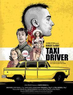 "Póster alternativo de ""Taxi Driver"""