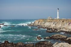 Mendocino Coast, Northern California.  Point Arena Lighthouse by Tom Spaulding, via Flickr