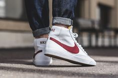 An On-Feet Look At The Nike Blazer Mid OG White / Red