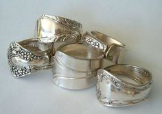 LTCreatesJewelry-- Etsy Spoon Rings  adore spoon rings, always have and always will