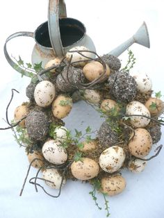 Spring Egg Wreath Garden Wreath by southernsalvage on Etsy, $28.00