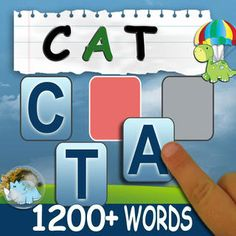 "Build a Word is $2.99. It teaches students letters, and how to combine letters to write out a word. A visual and/or audio prompt is given to students to ""write"" a certain word. The students write the word by dragging the letters of the word one by one into the correct spot given. The reward for creating the correct word is a short game."