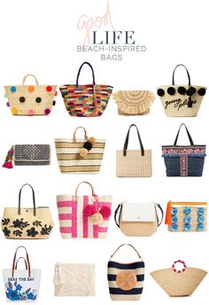 jillgg's good life (for less) | a west michigan style blog: current obsession: beach inspired bags!