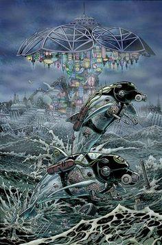 "Chris weston's artwork for Grant Morrison's comic book series ""The Filth"""