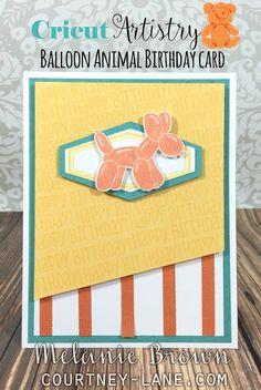Cricut Artistry Balloon Animal Birthday Card