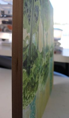 How to apply a wax finish to a watercolor painting on paper mounted on board on ARTiful, painting demos.