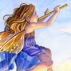 Fée Art Print fleur fée jouant de flûte musique par sarambutcher