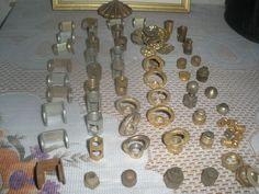Vintage Lot Of Vintage Brass Lamp, Chandelier, Light  Finials