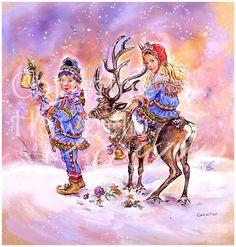 Winter Paintbox Poppets : Winter Wonderland © Copyright Christine Haworth Designs