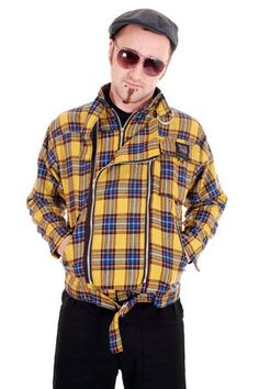 NEW - Zip Jacket by Tiger Of London- YELLOW PLAID