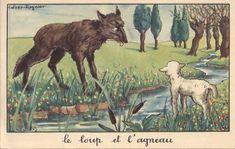 Il n'y a pas de «méchants manipulateurs», ni de «faibles manipulés»: certains se font un peu une spécialité de l'un de ces rôles, mais nous les jouons tous, l'un et l'autre, des dizaines de fois Wolf Illustration, Les Fables, Arctic Wolf, Old Postcards, Illustrations, Vintage Images, Art Drawings, Moose Art, Aesop