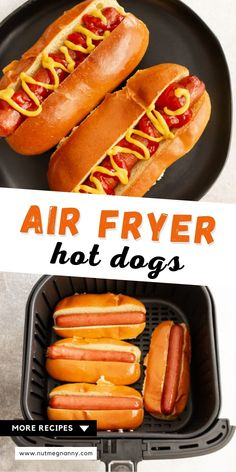 These air fryer hot dogs are so easy to make and come out perfectly every single time. The hot dog turns out slightly crisp with a lightly toasted bun. Entree Recipes, Lunch Recipes, Appetizer Recipes, Fancy Dinner Recipes, Delicious Dinner Recipes, Dinner Ideas, Date Night Recipes, Best Party Food, Best Appetizers