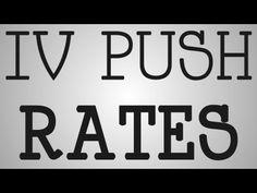 Nursing Education   What Are IV Push Rates? - YouTube