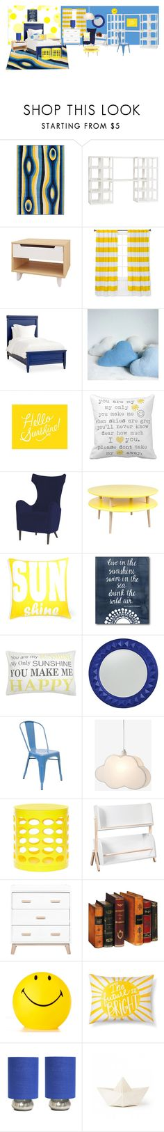 """""""Son-shine"""" by nerd-muffin ❤ liked on Polyvore featuring interior, interiors, interior design, home, home decor, interior decorating, Artist's Loom, PBteen, Nexera and Pillowfort"""