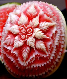 fruit carving -