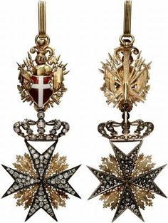 Cross of a Knight of Justice or Knight of Honour and Devotion of the Grand Priory of Austria and of the Grand Priory of Bohemia (Großpriorat von Österreich und Großpriorat von Böhmen). Royal Jewels, Crown Jewels, Knights Of Honor, War Medals, Military Orders, Grand Cross, Maltese Cross, Arts Award, Chivalry