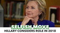 Oh No: Hillary Considering Role In 2018 Midterms