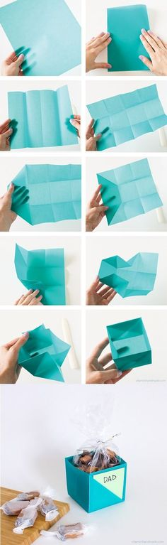 Origami Gift Box - A simple yet fantastic and unique way to give gifts. This origami gift box even has room for a little message to be slipped inside.