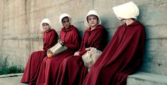 "From the Colonies to the Marthas, here are the essential terms from ""The Handmaid's Tale"" to brush up on before watching season two of Hulu's TV adaptation starring Elisabeth Moss. Elisabeth Moss, Margaret Atwood, Natasha Richardson, Lois Lowry, Joyce Carol Oates, Vanity Fair, Best Dystopian Books, Hunger Games, Handmaids Tale Costume"
