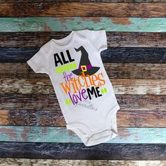 All My Witches Love Me Baby Bodysuit Youth by SweetTeaSpecialties