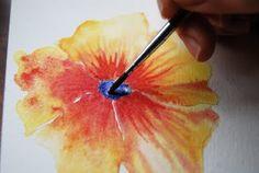 Painting in Trees: Orange Flowers Tutorial Part 1: Petals