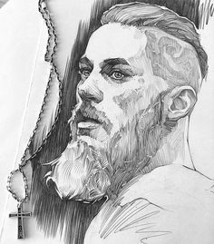 hmm no, just kidding😄, it's Ragnar Lothbrok What a cool drawing technique Hey guys, do you watch this show?I first though: He looks like my boyfriend, before I realized its Ragnar Lodbrock OMGby Lea NahonImage may contain: 1 person Guy Drawing, Drawing Sketches, Cool Drawings, Pencil Drawings, Painting & Drawing, Drawing Artist, Amazing Drawings, Manga Drawing, Sketching