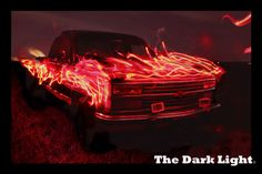 Light Painting, Lightpainting, Lichtmalerei, Chevy, Chevrolet, American Car, Car, Auto, Wald, Forest,  The Dark Light, LED, Schweif, LED Strip, Tunning, Video Projektion, Fire, Feuer
