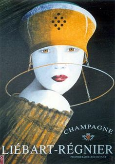 Champagne ad.1930 Vintage poster of Champagne #advertisement #champagne
