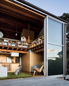 An architect with a taste for unconventional living spaces creates a small house at lofty heights with a starring view in New Zealand. To read the full story head to dwell.com. #interior #exterior #modern #architecture #dwell