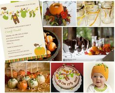 Fun ideas for a Fall baby shower.