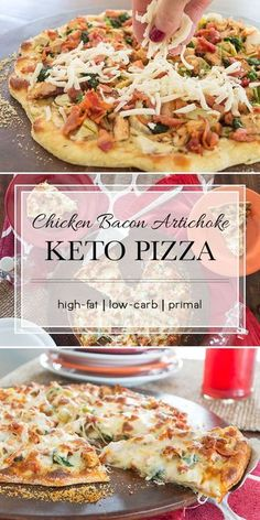 This pizza uses the fathead pizza crust and a white sauce to keep it low carb. It's so flavorful you won't miss the old tomato sauce/pepperoni version at all. It even has bacon on it - how can it fail? #keto