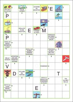 French Worksheets, 2nd Grade Worksheets, Kids Crossword Puzzles, Learning Games For Kids, Easy Halloween Crafts, Cycle 3, Teaching French, Kids And Parenting, Activities