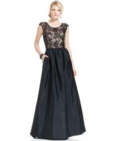 JS Boutique Dress, Cap-Sleeve Lace Sequin Gown - Womens Dresses - Macy's DREAM DRESS!!!!!!!!