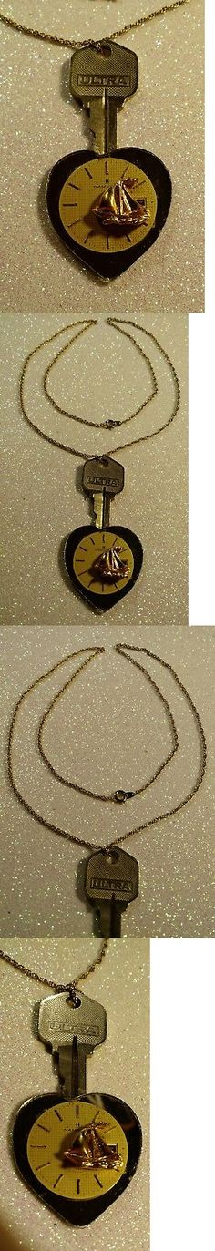 Altered Art 152806: Unique Heart Mirrored Sailboat Vintage Wristwatch Dial Artist Steampunk Necklace -> BUY IT NOW ONLY: $49.99 on eBay!